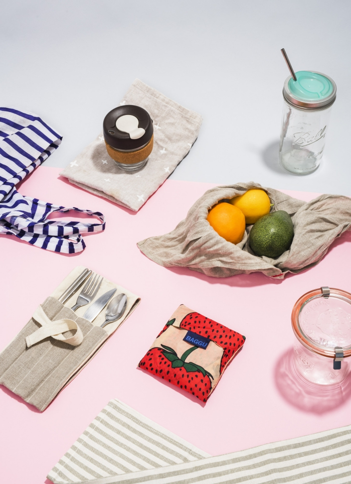 eco-friendly gifts ideas zero waste starter kit glass jar reusable bags and containers