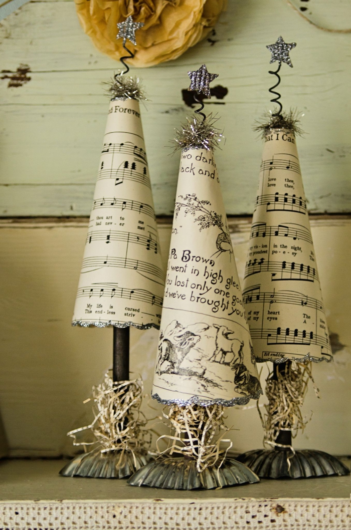 vintage music sheets simple table pieces