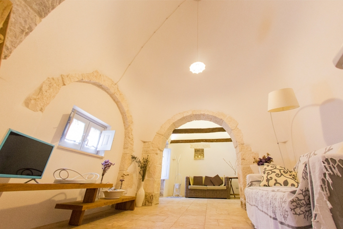 Modern trullo interior stylish home white walls