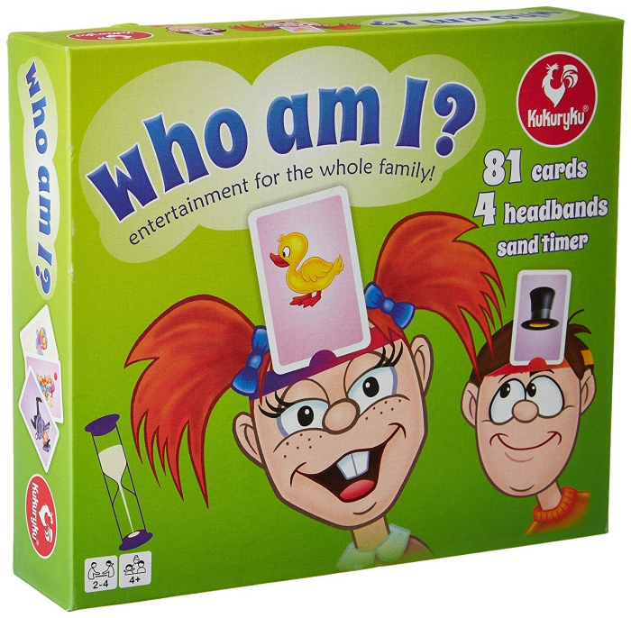 Who am I adult game green box with a boy and a girl