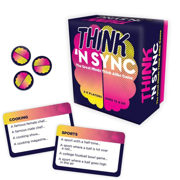 board game adult game Great Minds Think Alike purple box cards