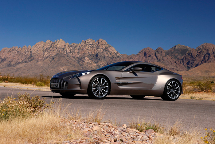 Aston Martin one 77 outdoor shot mocca color