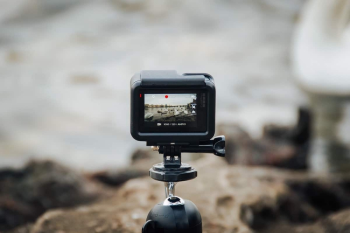 Best GoPro Accessories GoPro camera on a tripod shooting