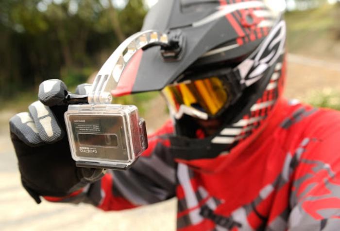 GoPro gadgets extender bike rider helmet gopro extender