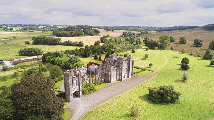 Gothic castle large estate fields castle