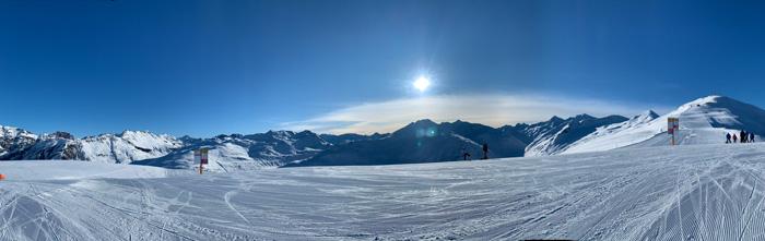 winter panorama snowy landscape Livigno ski and snowboard winter sports