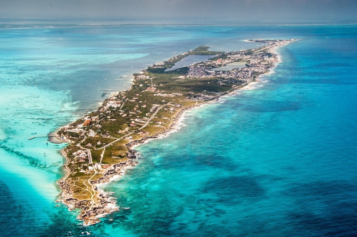 Isla Mujeres Things Mexico picture from above island blue water