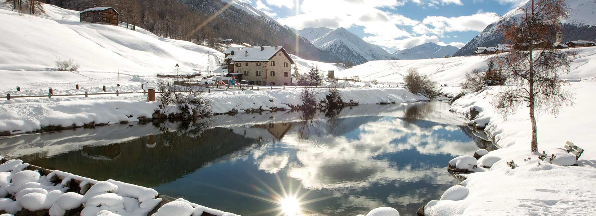 Livigno Best Ski holiday lake snowy landscape winter sun holiday home