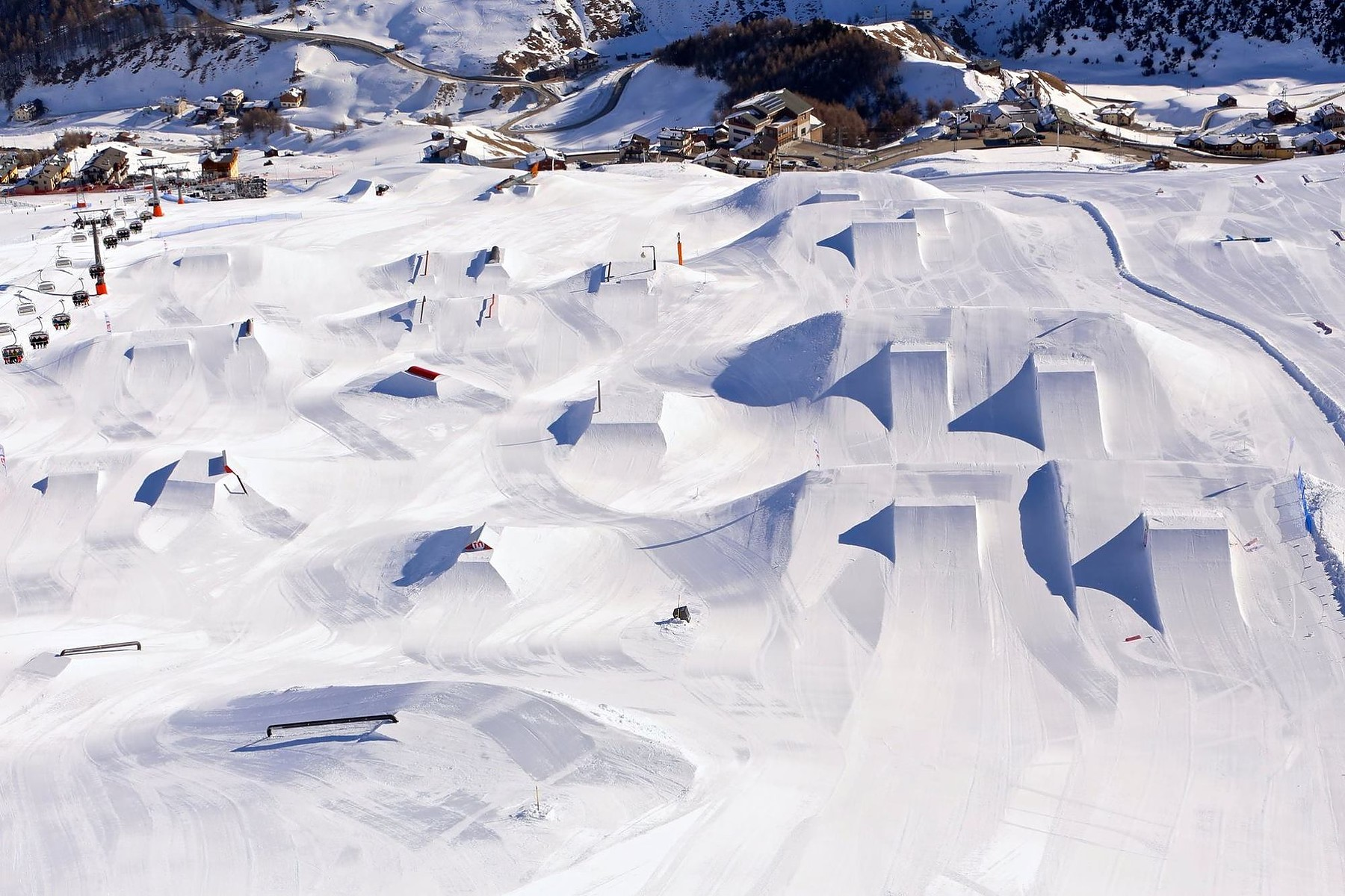 Livigno slopes and fun parks snowy landscapes winter sports facilities