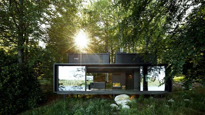 modern luxurious tiny home in the woods