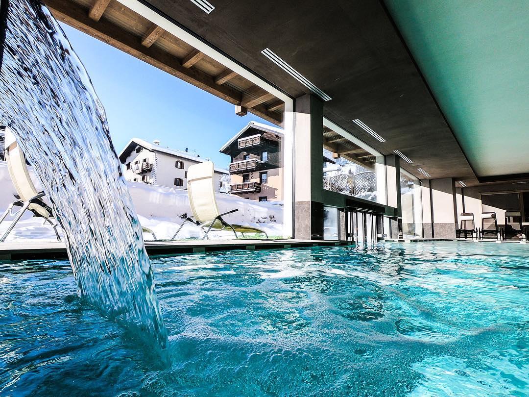 Spa center in Livigno pool winter relax hotel