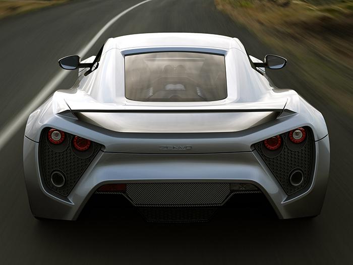 Zenvo ST1 fastest car in the world back silver car