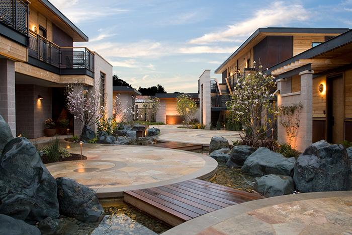 Bardessono hotel spa garden exterior