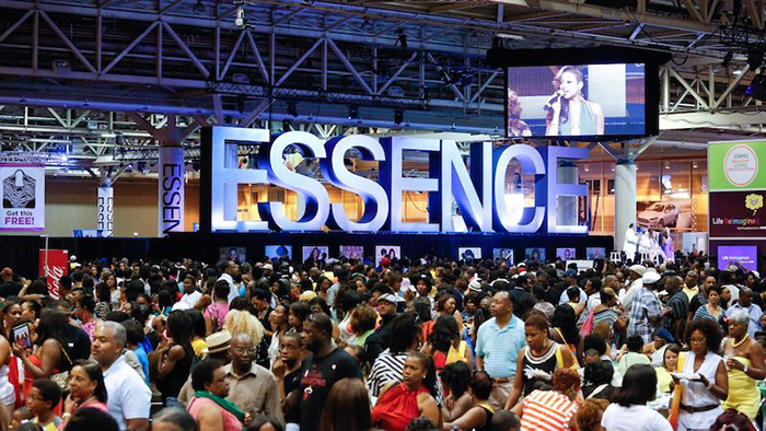 Events in America Essence festival crowded event people in a hall
