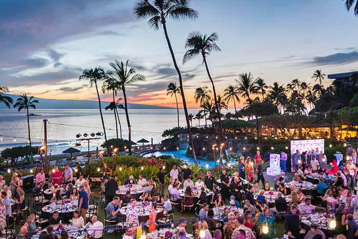 best events in America Food and Wine Festival Outdoor setting Palm trees sunset