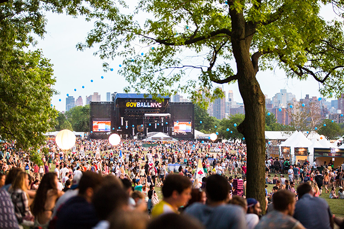 Governors Ball in New York Outdoor Stage crowd concert summer festival