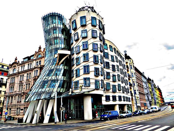 Prague Modern architecture dancing house street modern design