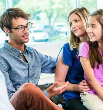 Family having family therapy