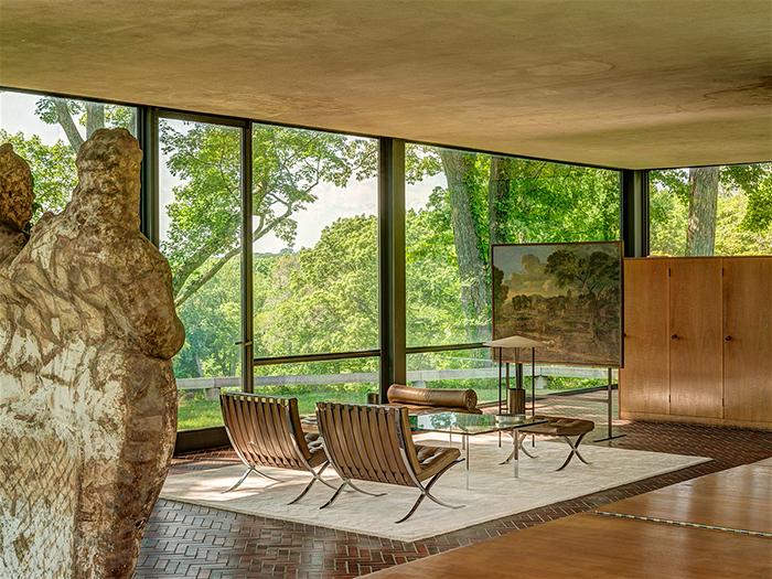 Glass House stylish interior modern design elegant furniture