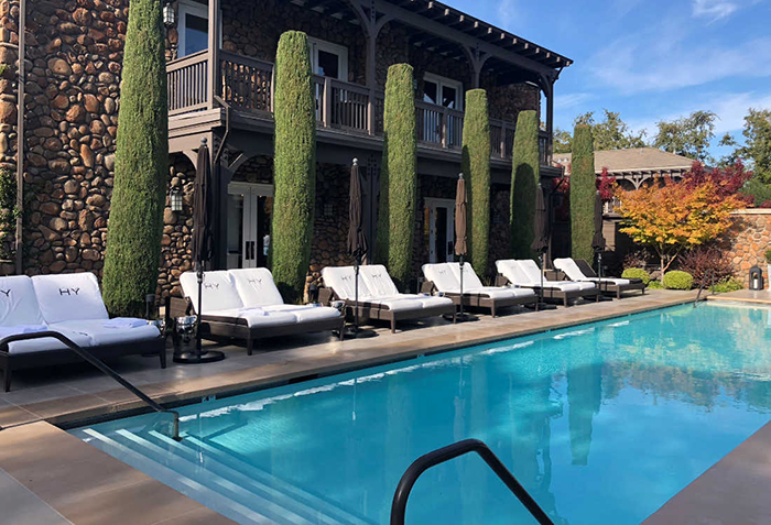 Hotel Yountville luxury Napa vacation outdoor pool relaxation spot
