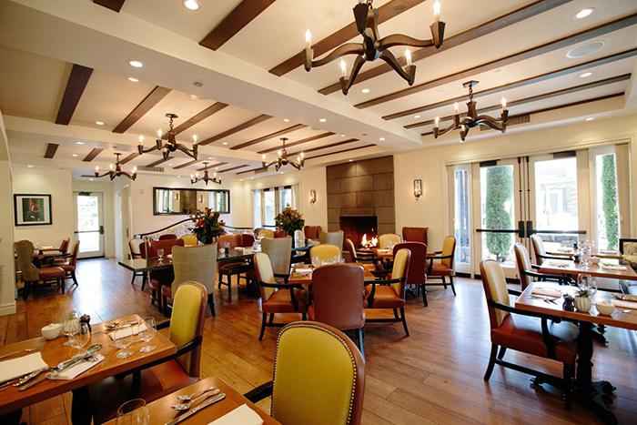 Hotel Yountville restaurant interior Napa stylish