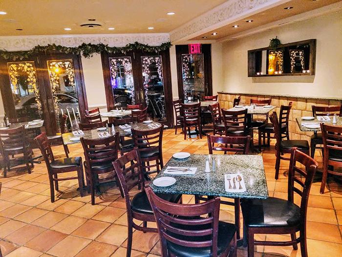 Manetta's Italian restaurant New York restaurant interior tables