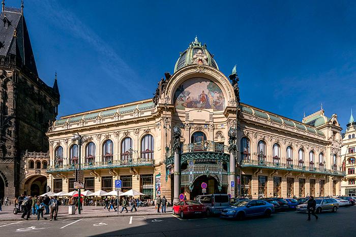 Municipal House Prague architecture sightseeing Prague touirsm