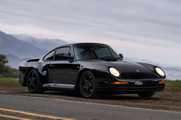 outdoor Rare black Porsche 959 Komfort Special wishes limited edition black car