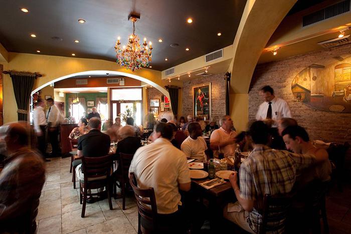 Roberto's Italian restaurant in New York City restaurant interior people dining
