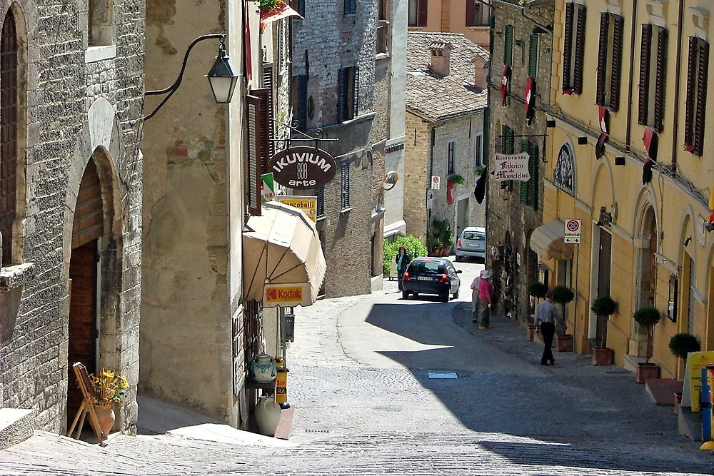 Streets of San Marino The oldest country in the world old architecture local shops