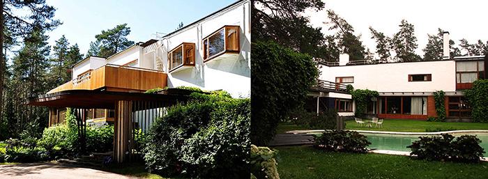 Mid Century Modern Home in Finland garden view