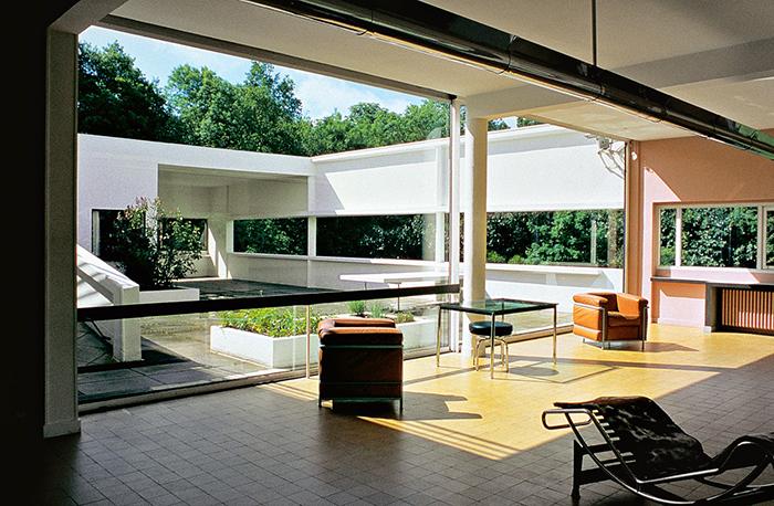 Mid century modern interior villa savoye modern furniture