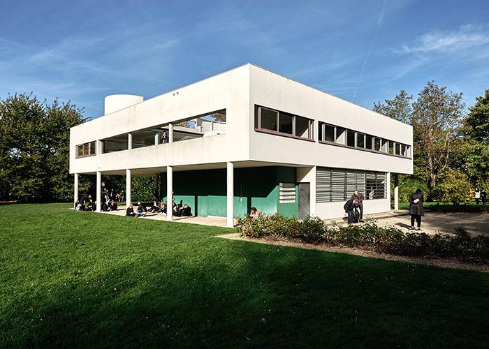 Villa Savoye Mid Century Home garden white modern house