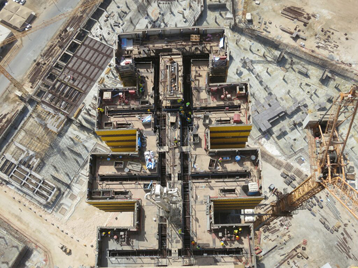 Jeddah Tower construction site tallest building in the world