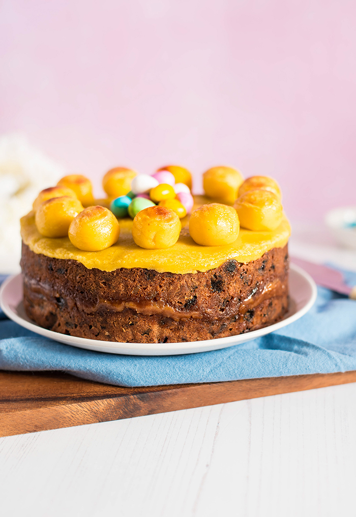Traditional European Foods Simnel Cake