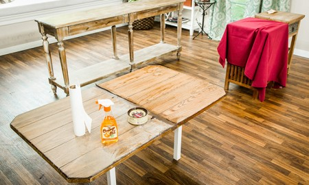 Refinishing-an-old-table-how-to