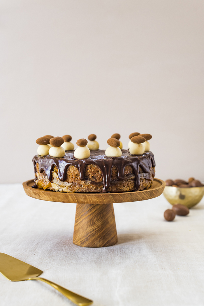 Easter traditional food Easter Simnel Cake chocolate cover