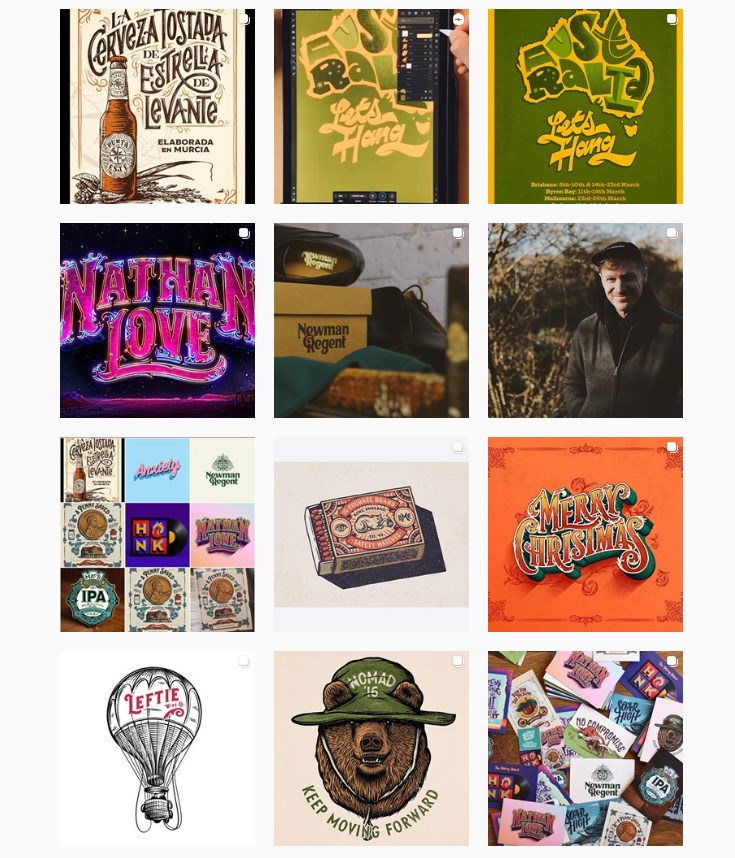 Best Instagram Artists Tobias Hall Instagram profile with posters pictures and typography art