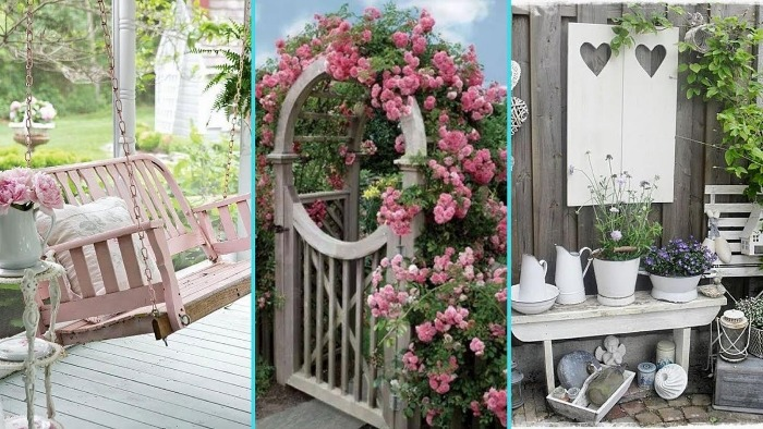 shabby chic garden summer garden decor ideas three examples of shabby chic design garden swing