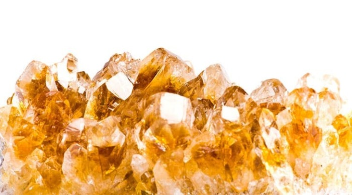 citrine crystal yellow brown white raw crystal