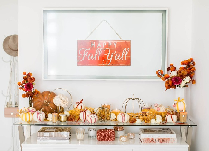 happy fall sign seasonal home interior decor