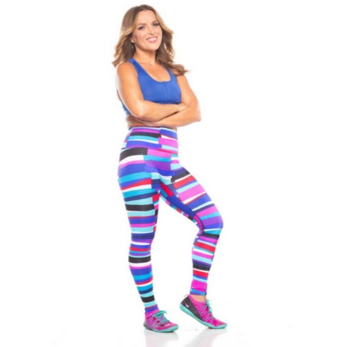 katrin julia sports influencer in sportswear on a white background