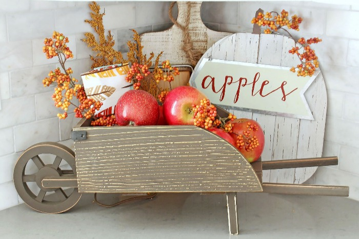 kitchen decor fall home decor with apples seasonal decorations