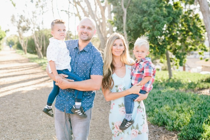 nick food influencer with his family outdoor picture with two children