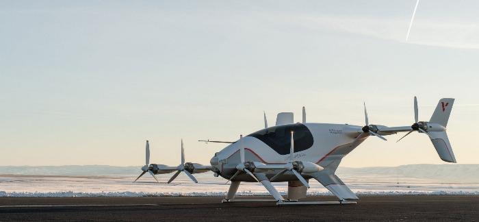 Airbus Vahana outdoors flying car model