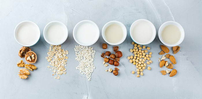 healthy foods plant based nut milks made from different nuts