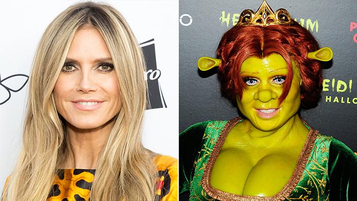 Queens of Halloween Heidi Klum Fiona Halloween costume comparison pictures