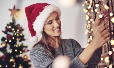 christmas lights hanging