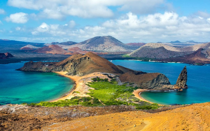 galapagos islands nature sea and land