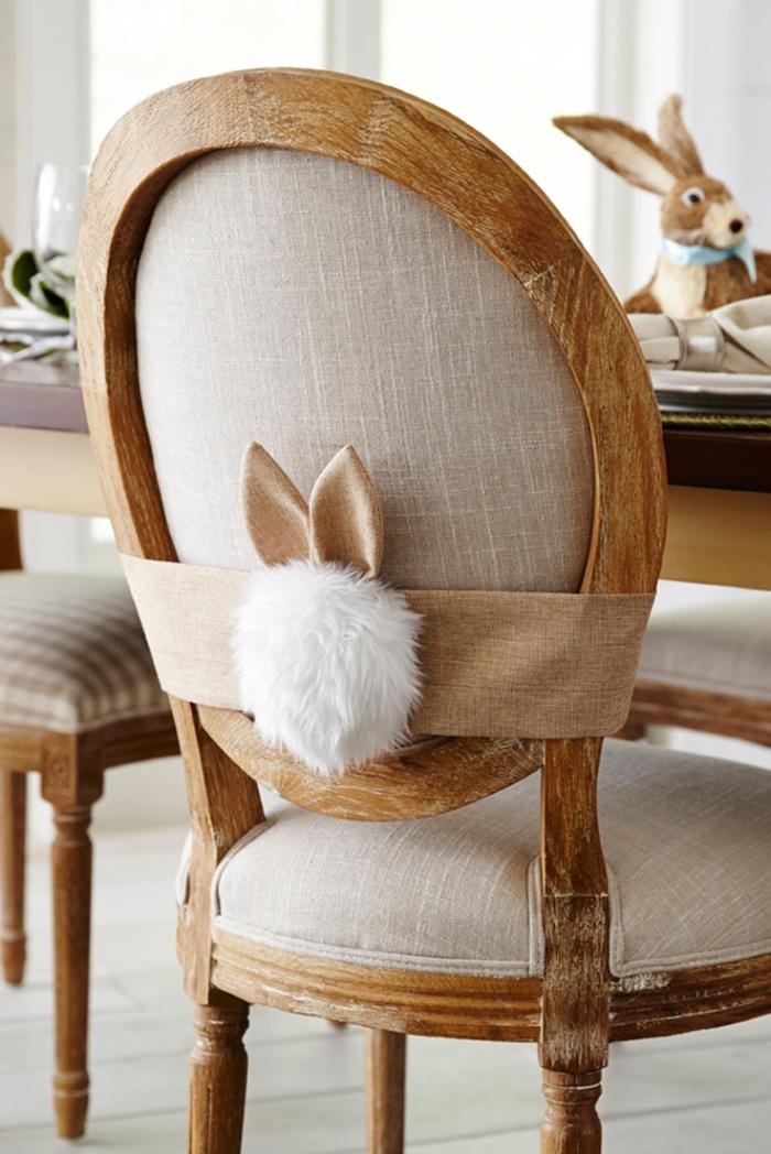 spring home decor chair bunny tale decoration